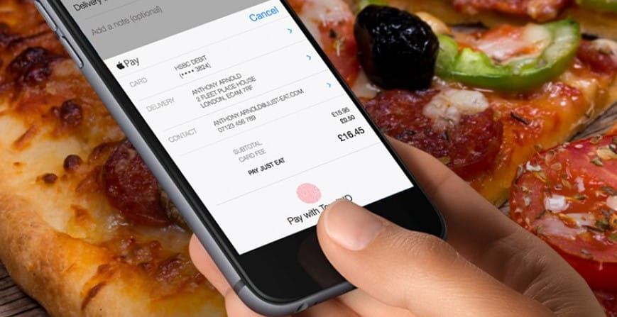 With Apple Pay A Just Eat Takeaway Is Only A Fingerprint Away